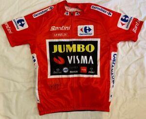 Primoz Roglic signed 2020 Vuelta a Espana cycling jersey Team Jumbo Visma
