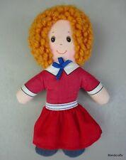Knickerbocker Soft Doll Little Orphan Annie Cartoon 1982 Linen 6.5in Taiwan Vtg
