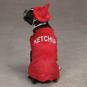 Casual Canine Ketchup Bottle Dog Puppy Halloween Costume Size M NEW