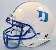 DUKE BLUE DEVILS (White w/ Blue Chrome) Schutt XP Mini Helmet