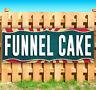 """FUNNEL CAKE Advertising Vinyl Banner Flag Sign USA CARNIVAL FAIR FOOD 18"""" 30"""""""