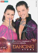 Eva Marold & Thomas Kraml Dancing Stars ORF Autogrammkarte signiert 377836