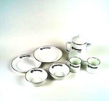 Petromax Geschirr Set: 1 Perkolator, 2 Becher, 2 Teller, 2 Schalen, weiß!