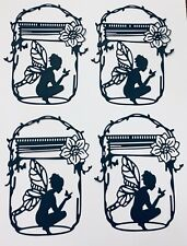 "4  BREATHTAKING ""FAIRY JAR""  INTRICATE FAIRY /FAIRIES SILHOUETTE DIE CUT /CUTS"