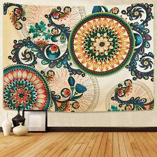 Art Hippie Mandala Flower Tapestry Room Wall Hanging Throw Psychedlic Tapestries