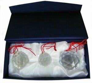 30/40/50MM 3 PACK CRYSTAL PRISM SUNCATCHERS FACETED FENG SHUI - USA SELLER