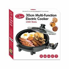 Quest 35410 Benross Multi-Function Electric Cooker Pan with Lid 1500 W 30 Cm
