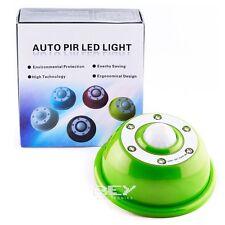 Sensor Movimiento PIR color VERDE 6 LEDS Regulable Intensidad y duración d132