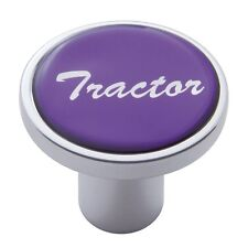 knob tractor screw on purple glossy sticker for Kenworth Peterbilt Freightliner