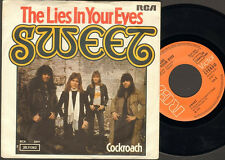 """The SWEET The Lies In Your Eyes 7"""" SINGLE 1976 Cockroach"""