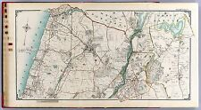 1908 Westchester County New York City map old Genealogy Atlas Land Owner Dvd P43