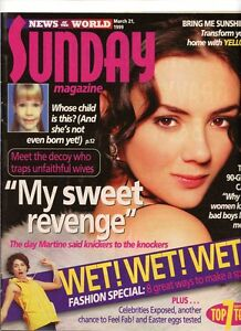 MARTINE MCCUTCHEON-- SUNDAY MAGAZINE- 21 MAR 1999