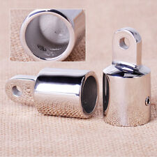 2x Stainless Steel Silver Eye End Cap Bimini Top Fitting / Hardware 7/8'' Marine