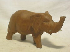 *damaged carved hard wood elephant wooden sculpture figure animal African ? art