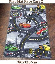 Children's Disney Play Mat Race Cars 2 Room Decoration Non-Slip Backing 80x120cm