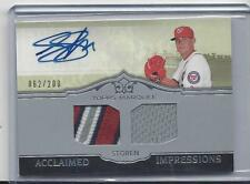 DREW STOREN 2011 TOPPS MARQUEE ACCLAIMED IMPRESSIONS 4 COLOR PATCH AUTO /200