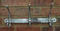 Coat Rack 3 Hook Modern Aluminium Metal Hallway Tidy Wall Silver 44 cm  New