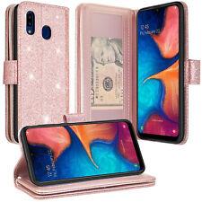 For Alcatel 3V (2019) Case, Faux Leather Magnetic Flip Wallet Case Phone Cover