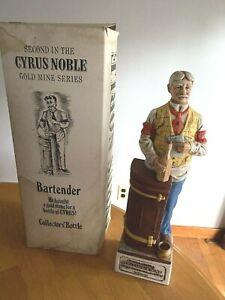 Cyrus Nobel Gold Mine Series #2 Kentucky Whiskey Decanter Original Box!!