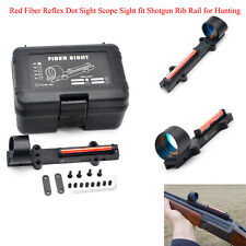 Ultralight Holographic Red Dot Fiber Sight Scope Mount Rib Rail Reflex Circle