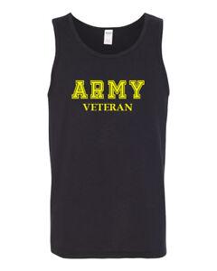 Mens Tank Top Army Veteran T Shirt Soldier Veteran US United States Tee Military