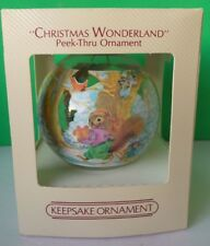 HALLMARK 1983 CHRISTMAS WONDERLAND BULB ORNAMENT