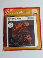 "Vintage String Art Craft Kit by McNeill No. 1221 Mushrooms 6"" x 6"" Unopened"