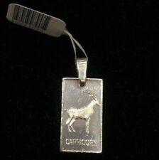 NEW Capricorn Sterling Silver Zodiac Pendant 925 Horoscope Charm Solid S/S Goat