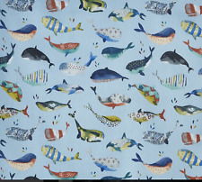 BLACKOUT MTM ROMAN BLIND PRESTIGIOUS WHALE WATCHING PACIFIC BIG FISH BLUE YELLOW