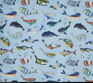 BLACKOUT MTM ROMAN BLIND PRESTIGIOUS WHALE WATCHING PACIFIC BIG FISH BLUE YELLOW