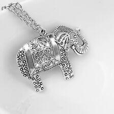 Hot Fashion Elegant Retro Elephant Sweater Pendant Necklace