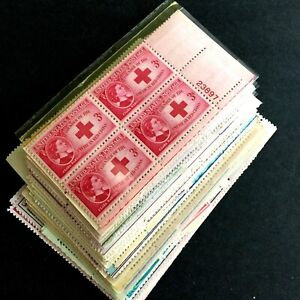 US STAMPS Lot of (50) Various Plate Blocks from 1940's-1950's MINT OG NH -11