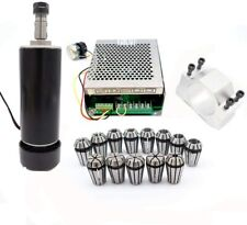 Cnc Spindlemach3 Cnc 500w Air Cooled Spindle With 52mm Clamps13pcs Er11 Kits