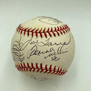 1998 New York Yankees World Series Champs Team Signed Baseball Derek Jeter JSA