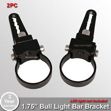 "2x 1.75"" Tube Bull Bar/Roll Bar Mount Bracket Clamps for Off Road LED Light Bar"