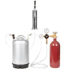 Stout Beer Keg Kit: 20 cf Nitrogen Tank, 3 Gal Keg, Stout Tap & Tower SHIPS FREE