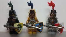 Lego CASTLE Kingdoms and Fantasy Era CHROME GOLD SILVER BLACK Knight Minifig NEW