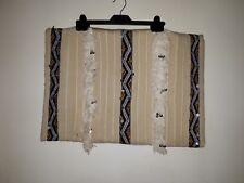 Moroccan Kilem wedding Blanket Cushion 100% Wool Handmade Vintage Cream