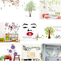 Family Flower Decal Wall Sticker DIY Removable Art Mural Home Room Decor Smart