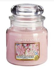 Yankee Candle Snowflake Cookie Medium Jar Brand New Christmas Scent Gift