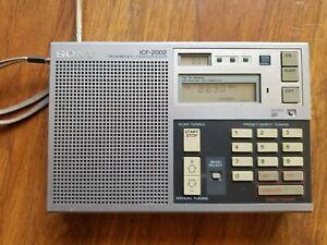 Sony ICF-2002 FM/LW/MW/SW PLL Synthesized Receiver Short Wave Radio