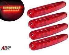 Four Rojo Super Brillantes 9 Diodos Finos Trasero Luces de Marcaje Man DAF