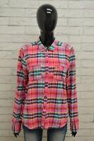 Camicia HOLLISTER Donna Taglia Size L Maglia Blusa Shirt Woman Cotone a Quadri