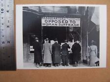 Opposed to woman Suffrage - Suffragette   Political / Satire postcard