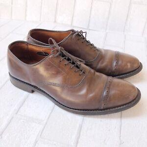 Allen Edmonds Fifth Avenue Brown Leather Cap-Toe Oxfords sz 9 D MENS US
