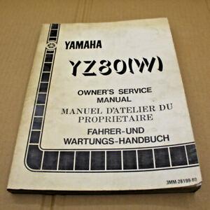 MANUEL REVUE TECHNIQUE D ATELIER YAMAHA YZ 80 W 1989 YZ80 SERVICE MANUAL