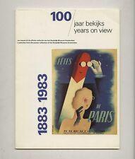 1983 Wim Crouwel 100 YEARS ON VIEW Stedelijk Museum POSTER Exhibition Catalog