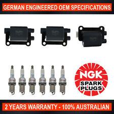 6x Genuine NGK Platinum Spark Plugs & 3x Ignition Coils for Mitsubishi Pajero NL