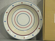 "Longaberger Patriotic American Starburst Pasta Pottery 12"" Serving Bowl 31790"