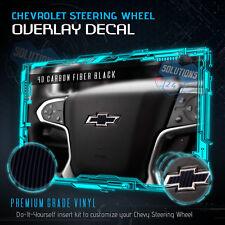 4D Carbon Fiber Steering Wheel Emblem Bowtie Decal Fit 2014-2018 Chevy Silverado